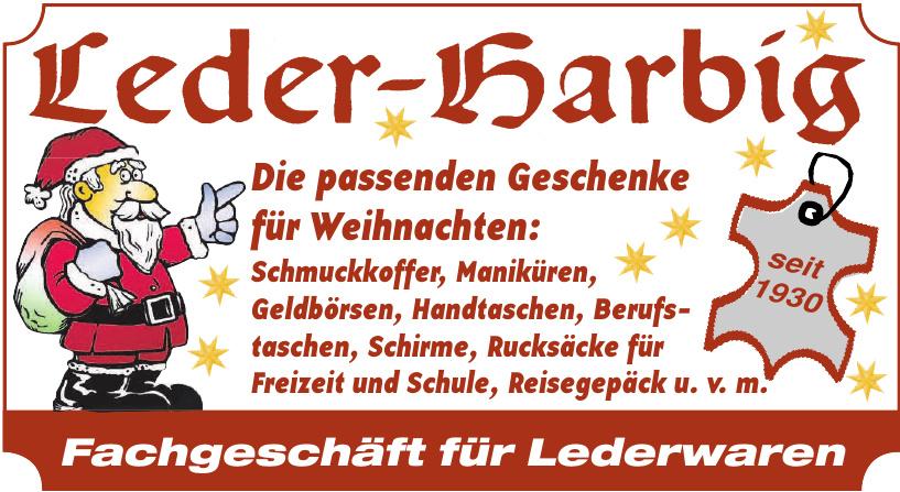 Leder- Harbig