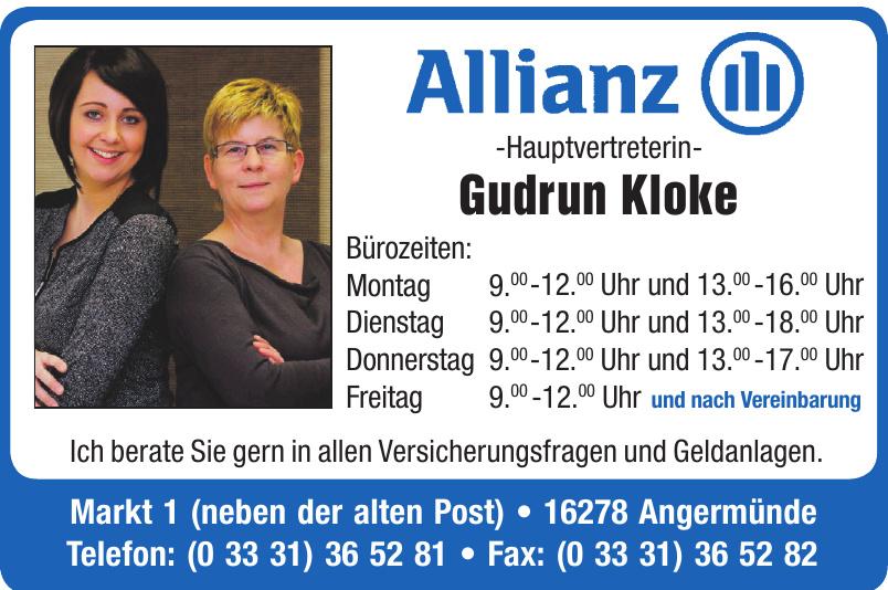 Allianz Hauptvertreterin Gudrun Kloke