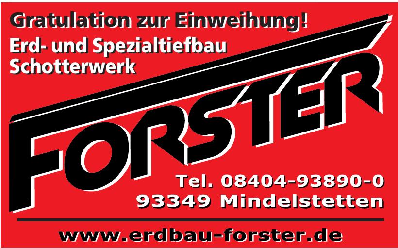 Erdbau Forster