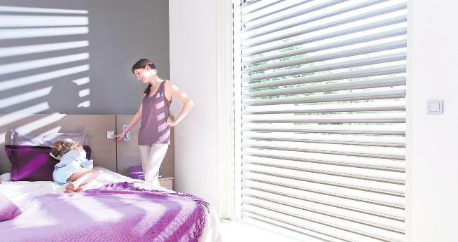 Umweltfreundlich: Beschattungssysteme halten bis zu 90 Prozent der Sonneneinstrahlung ab. Quelle: Somfy GmbH/BHW Bausparkasse
