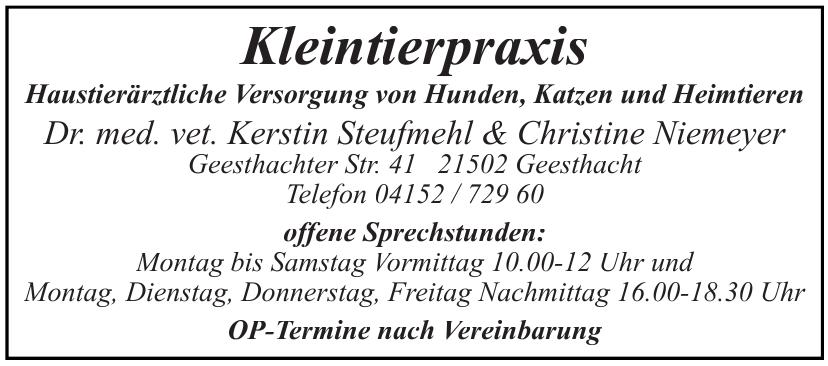Dr. med. vet. Kerstin Steufmehl & Christine Niemeyer