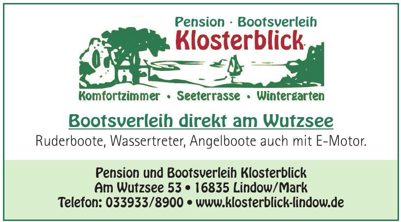 Pension und Bootsverleih Klosterblick