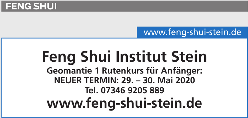Feng Shui Institut Stein