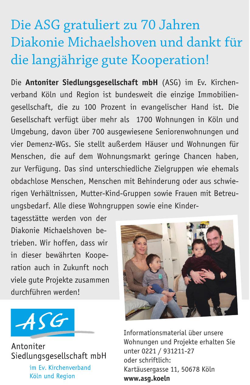 Antoniter Siedlungsgesellschaft mbH (ASG)