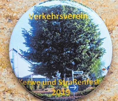 Der Button zeigt in diesem Jahr den Uzès-Kreisel. BILD: GROSS
