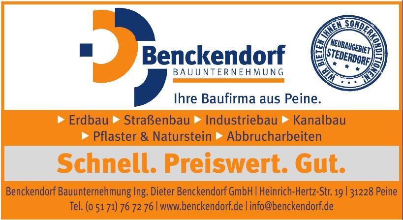 Beckendorf Bauunternehmung Ing. Dieter Benckendorf GmbH
