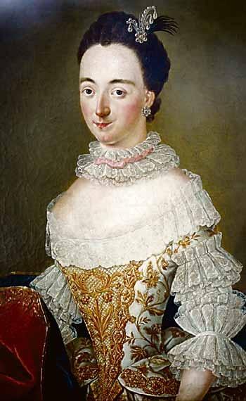 Prinzessin Caroline Wilhelmine Sophie in einem prächtigen Gewand, Ölgemälde im Zerbster Schloß Foto: Veranstalter