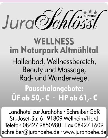 Landhotel zur Jurahöhe - Schreiber GbR