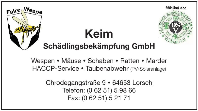 Keim Schädlingsbekämpfung GmbH