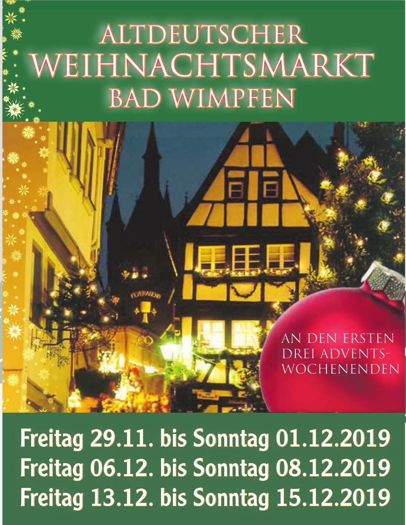 Altdeutscher Weihnachtsmarkt Bad Wimpfen