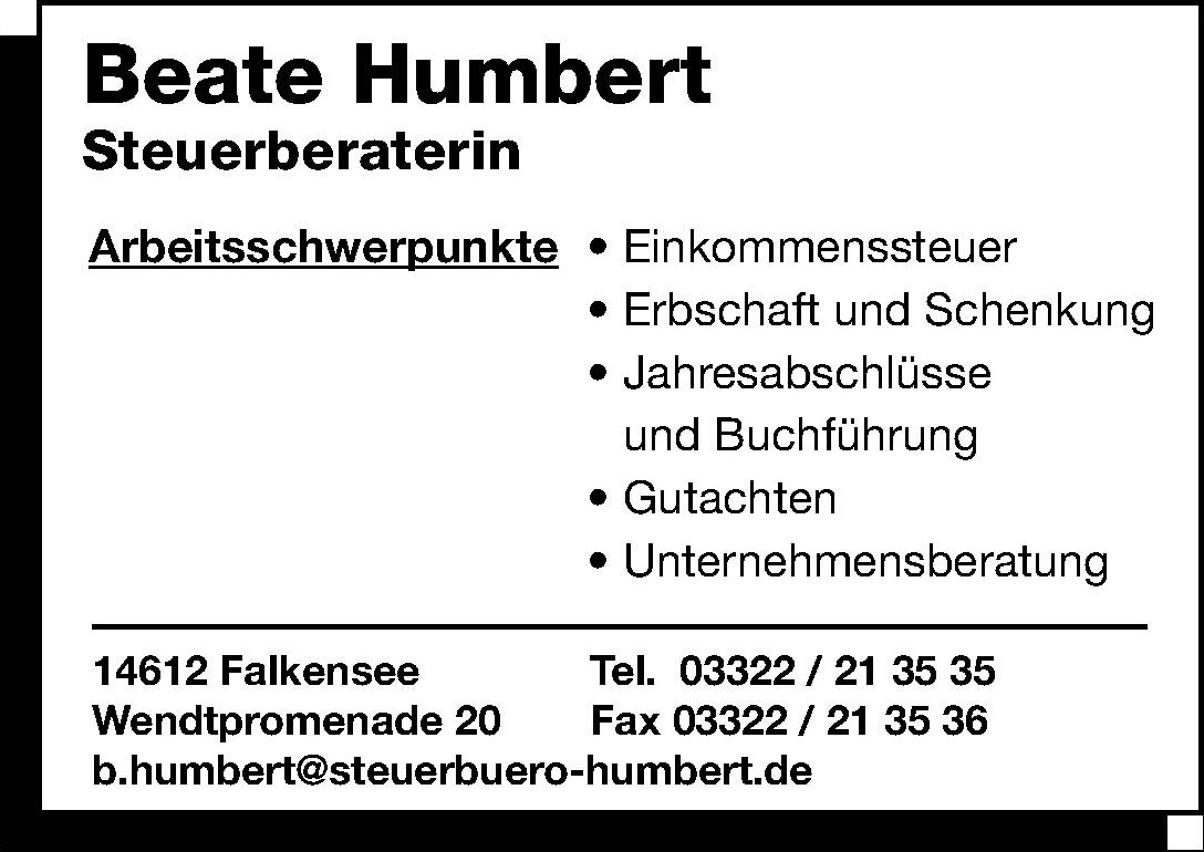 Beate Humbert Steuerberaterin