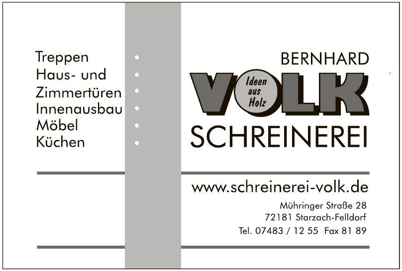 Bernhard Volk Schreinerei