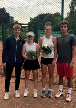 Mixed Finale: v.r. Lina Hohnhold/Benjamin Loccisano – Kim Auerswald/Laurent Baese 6:2, 6:4. Foto: Blankenese