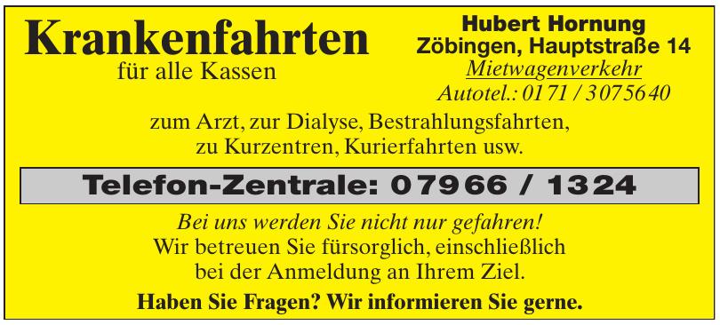 Hubert Hornung - Mietwagenverkehr