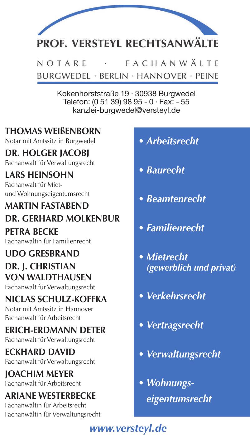 Prof. Versteyl Rechtsanwälte