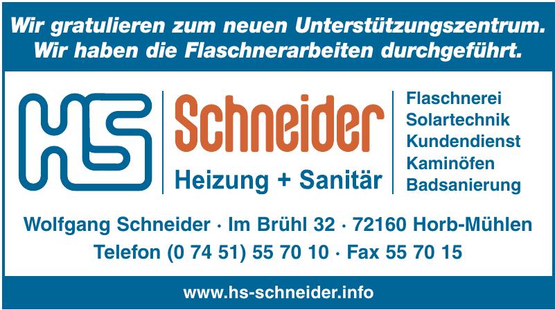 HS Schneider Heizung - Sanitär