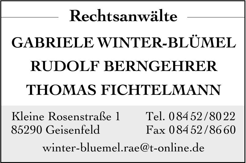 Rechtsanwälte Gabriele Winter-Blümel, Rudolf Berngehrer, Thomas Fichtelmann