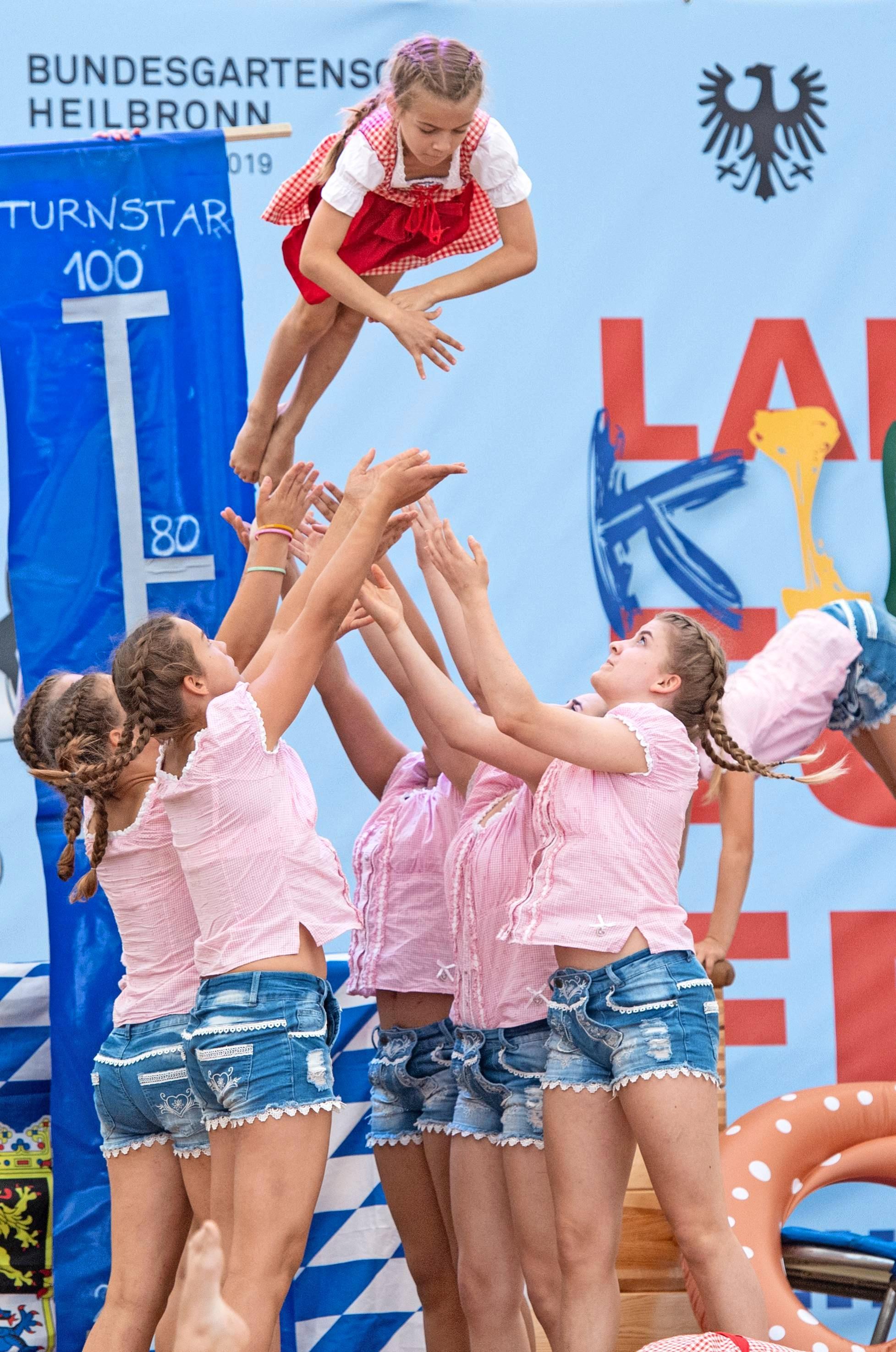 Auch ein Sportevent wie das Landeskinderturnfest macht die Buga zu einem fröhlichen Sommermärchen