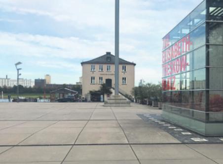 Vom Elisabeth-Treskow-Platz aus soll das Bauwerk nutzbar sein. Bild: Büge