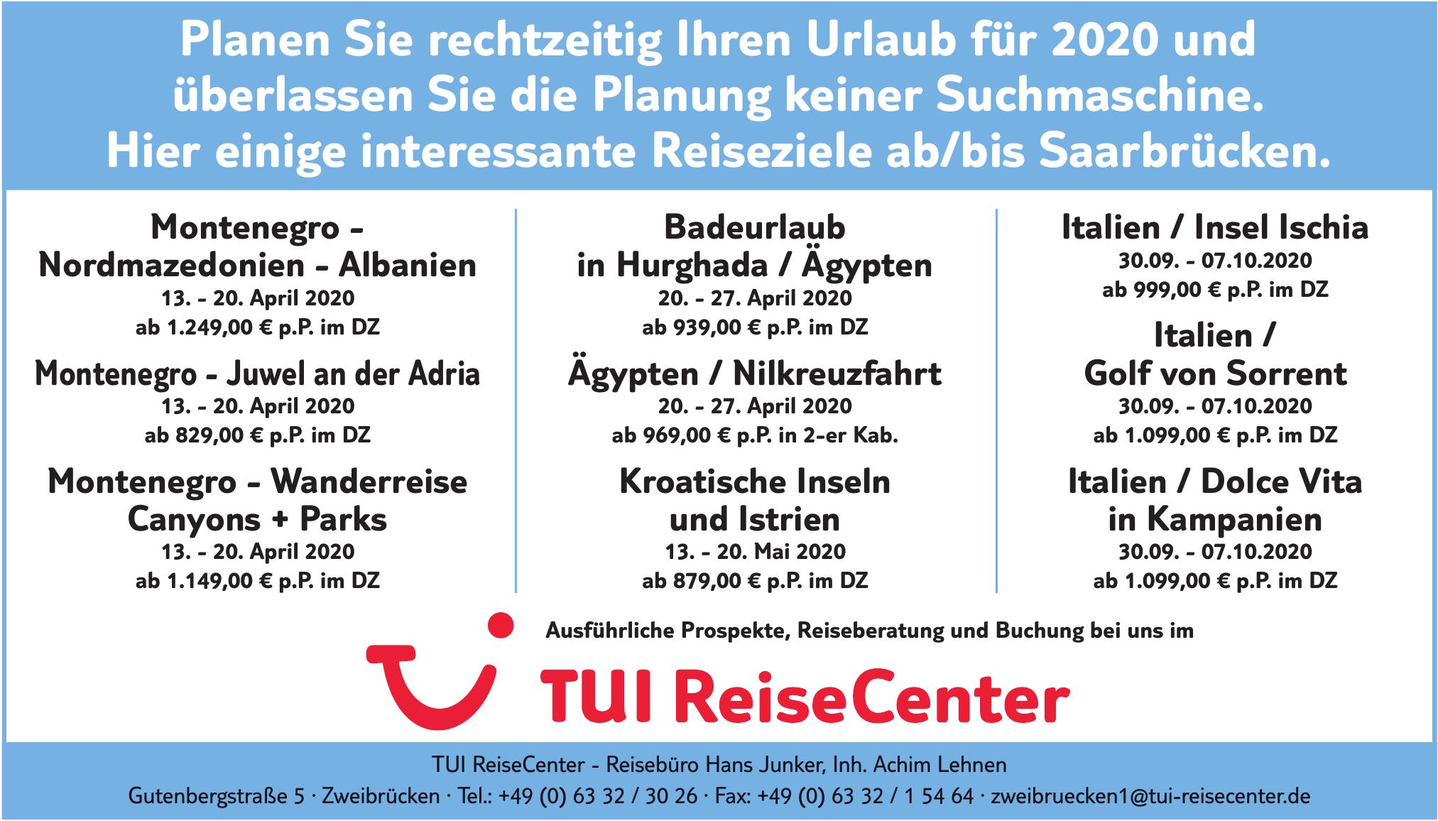 TUI ReiseCenter - Reisebüro Hans Junker