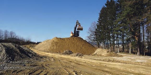 Der Leitungs- und Straßenbau im 13,4 ha großen Betriebsbaugebiet Freistadt Süd ist in vollem Gange.