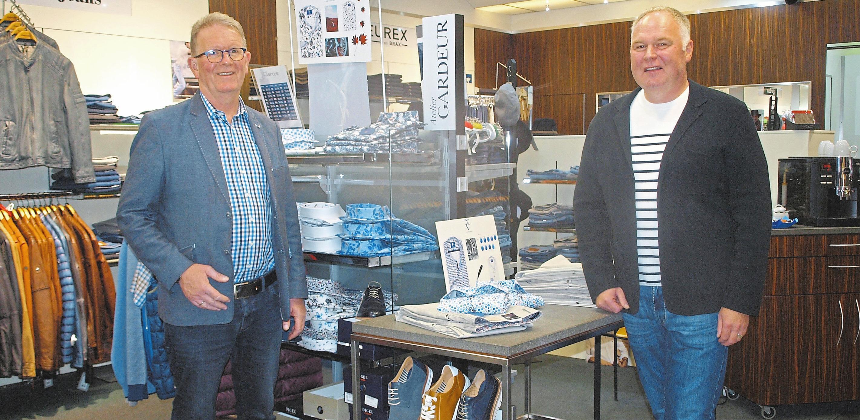 Bernd-Uwe Lieftüchter und Oliver Mohr beteiligen sich am verkaufsoffenen Sonntag.