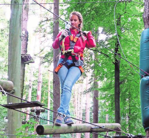 Ein Ferienbesuch in einem Kletterwald oder -park verspricht Abenteuer und Abwechslung. Foto: S. Wittkopf-Schade