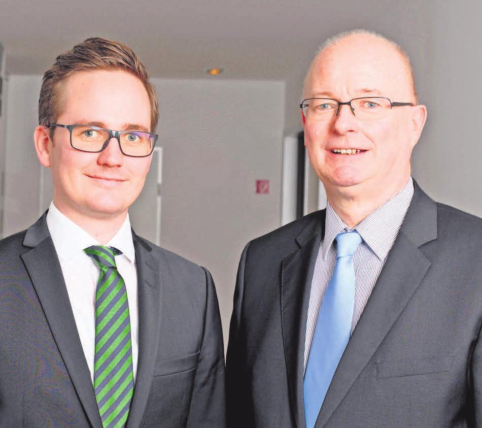 Wilhelm Kunze (rechts) und sein Sohn Jan Wilhelm Kunze stehen an der Spitze der Immobilienfirma.