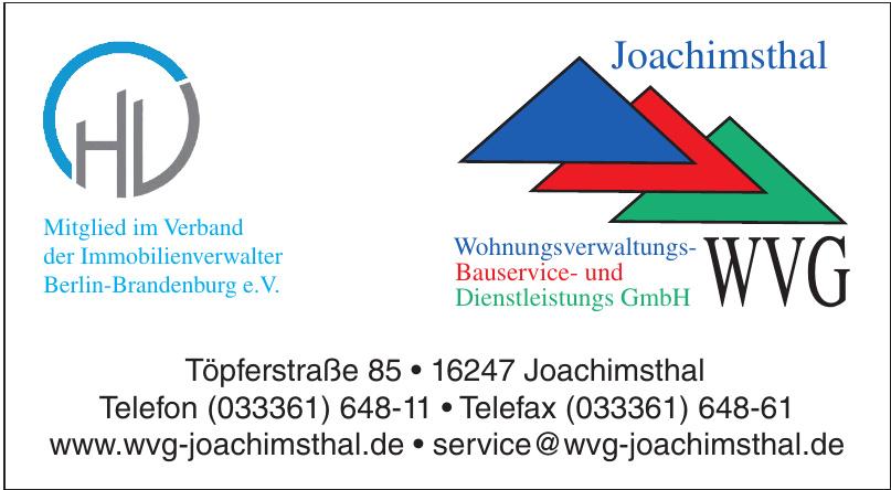 WVG Wohnungsverwaltungs-Bauservice- und Dienstleistungs GmbH
