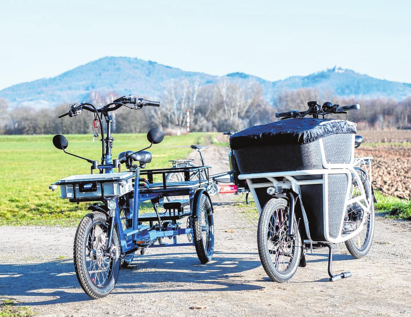 Im Idealfall kann ein Lastenfahrrad mit E-Antrieb ein Auto ersetzen. Bild:Thomas Neu
