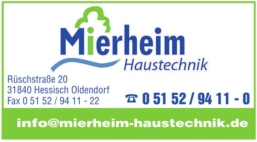 Mierheim Haustechnik