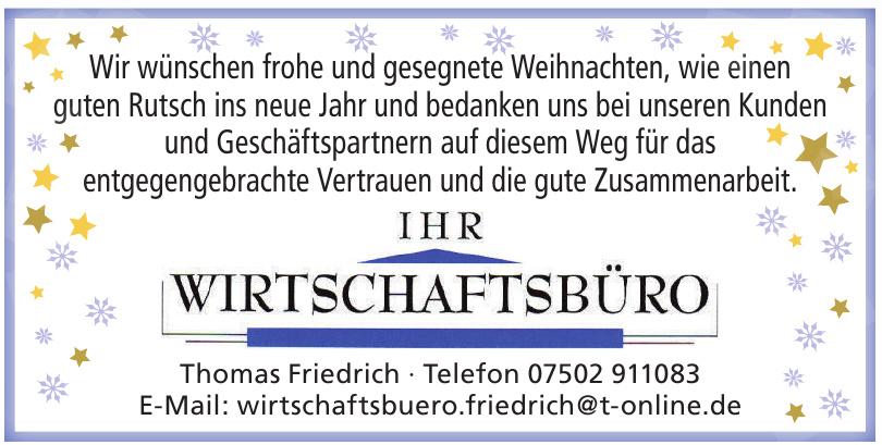Wirtschaftsbüro Thomas Friedrich
