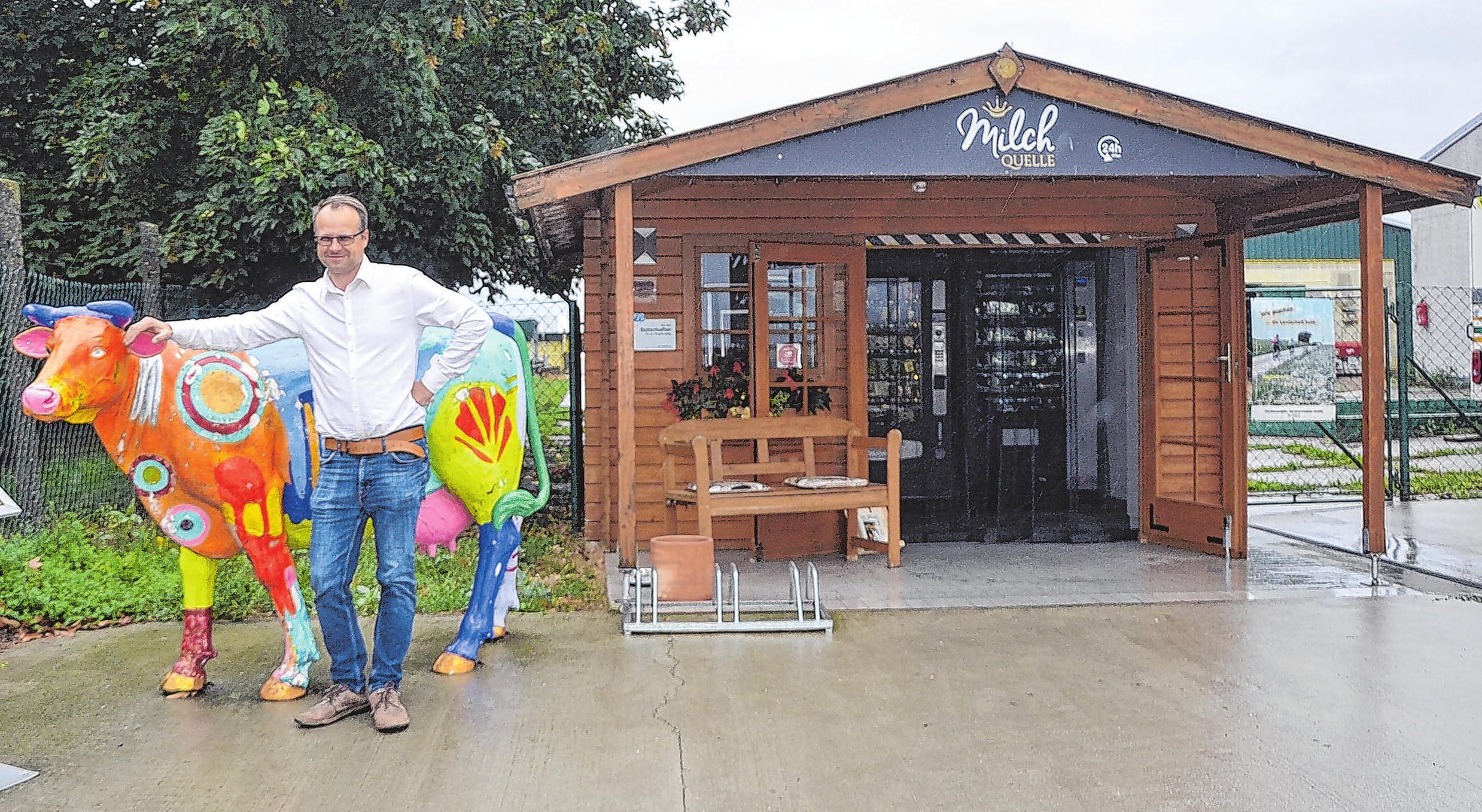 MilchQuelle der Fürstenwalder Agrarprodukte GmbH in Buchholz: Geschäftsführer Benjamin Meise engagiert sich für Frische und Geschmack.