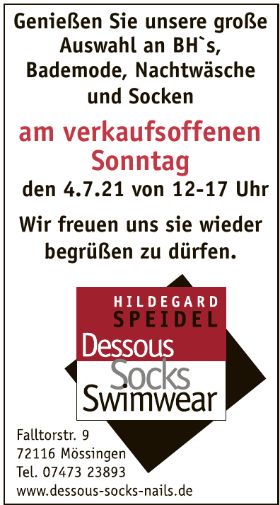 Hildegard Speidel - Dessous - Socks - Swimwear