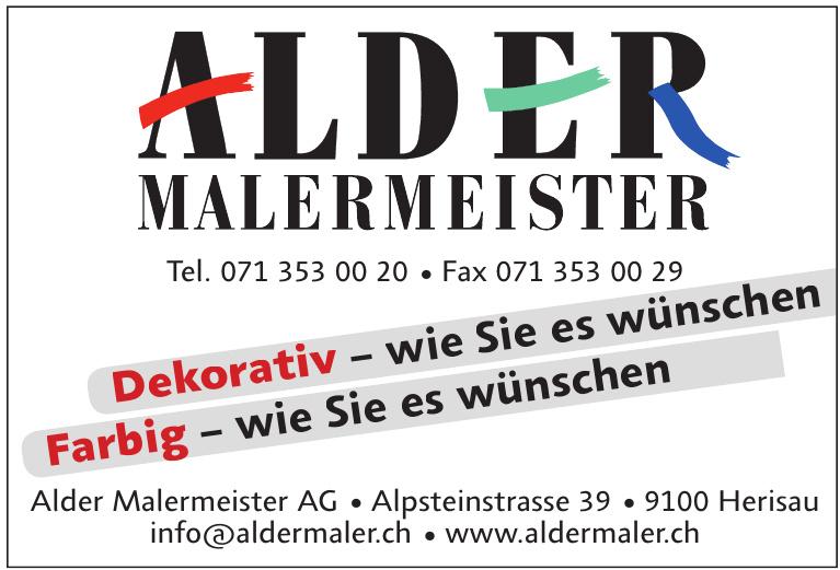 Alder Malermeister AG