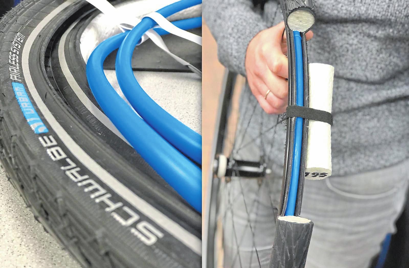Das Schwalbe Airless System funktioniert ohne Luft und garantiert einen gleichbleibenden Reifendruck.