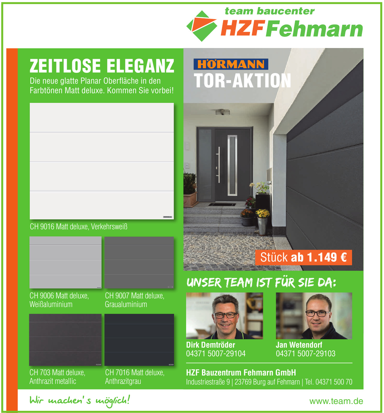 HZF Bauzentrum Fehmarn GmbH