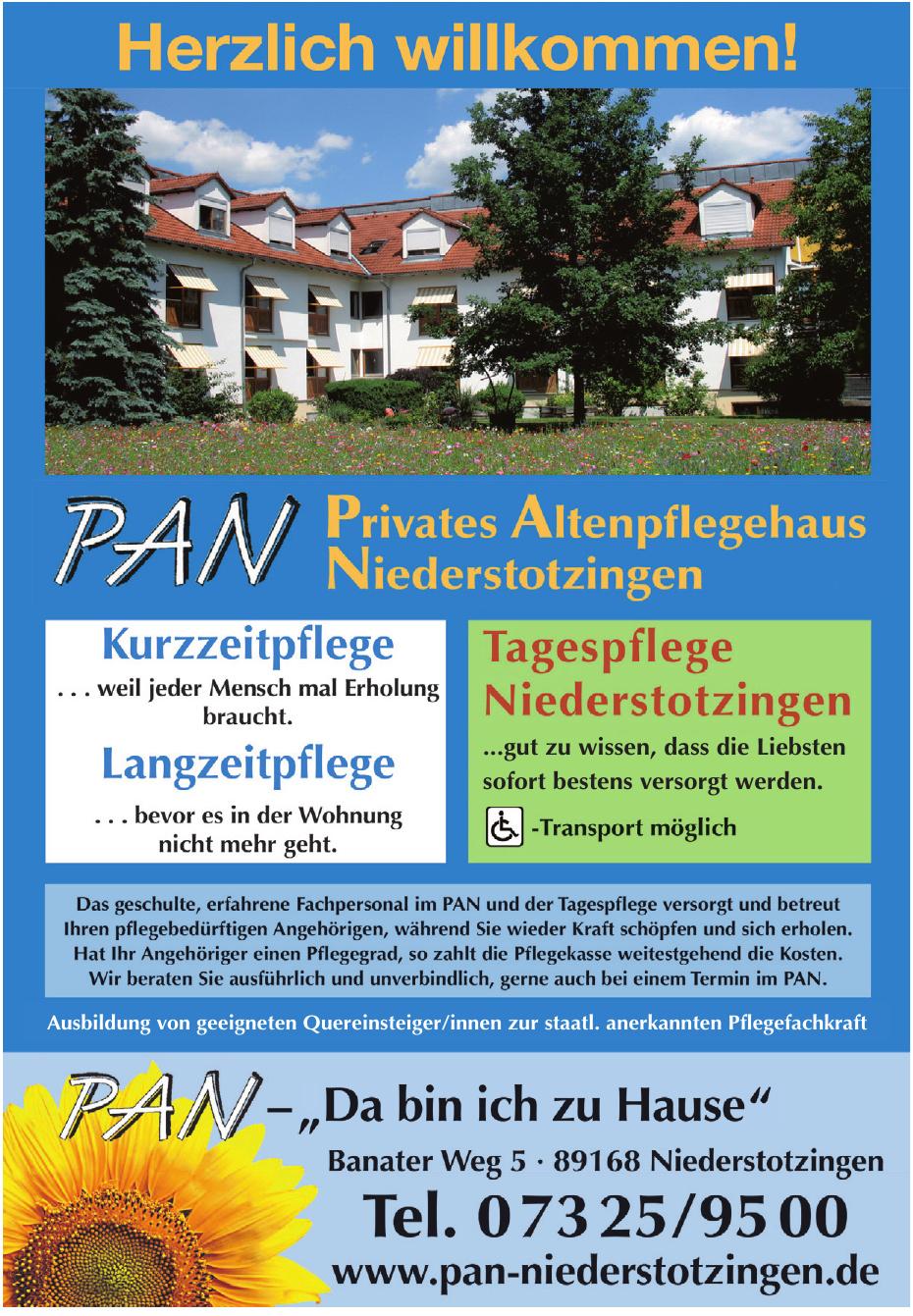 PAN Privates Altenpflegehaus Niederstotzingen