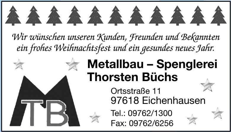 Metallbau – Spenglerei Thorsten Büchs