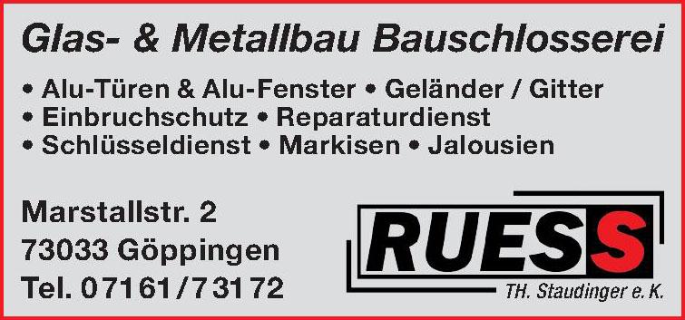 Ruess Glas- & Metallbau Bauschlosserei