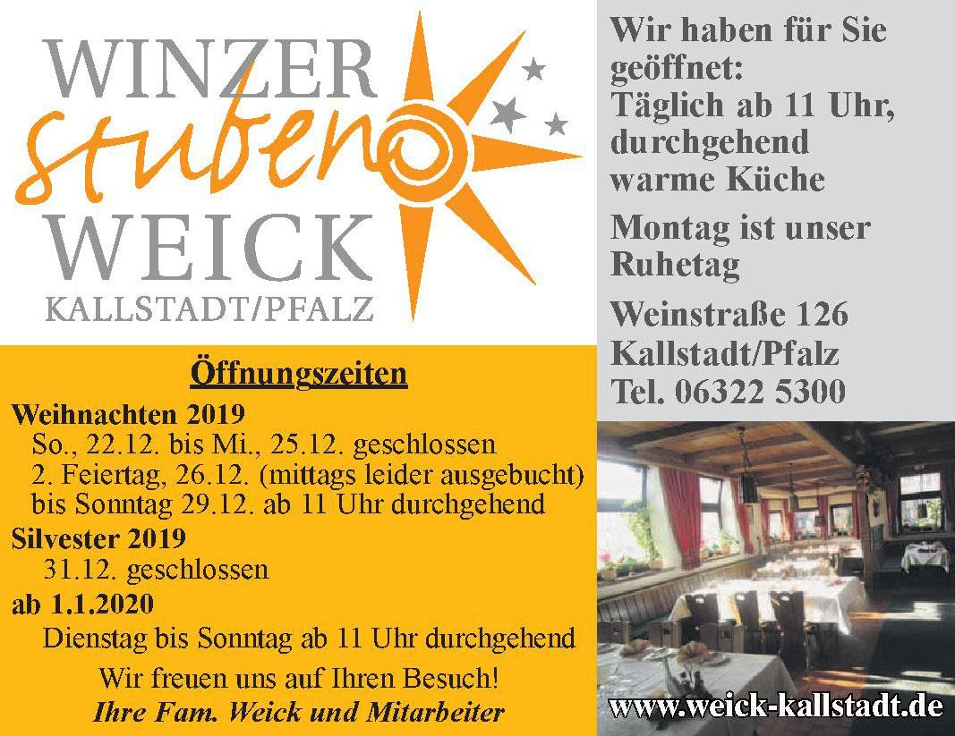 Weick Kallstadt/Pfalz