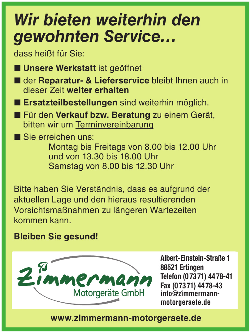 Zimmermann Motorgeräte GmbH