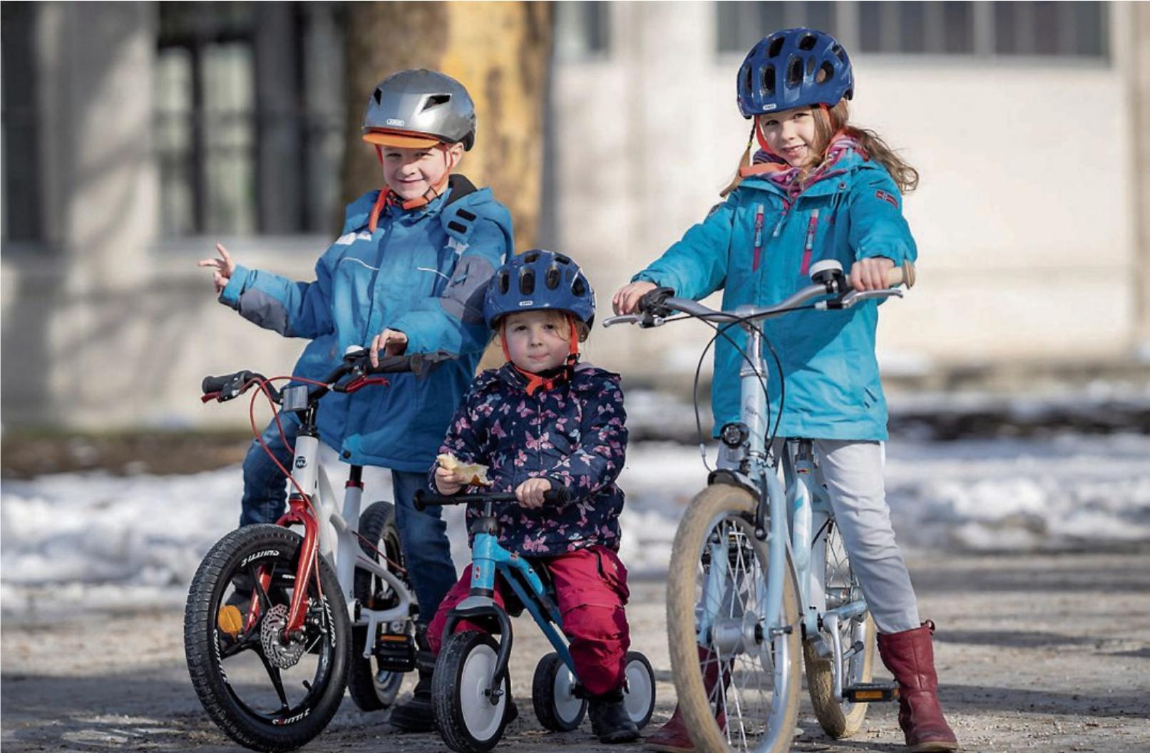 Für Kinder aller Größen findet sich mittlerweile das richtige Fahrzeug - vom Laufrädchen für erste Balancierversuche über sportliche Spielräder bis hin zum ersten Straßenrad für Schulanfänger. Bild: Pressedienst Fahrrad / Florian Schuh