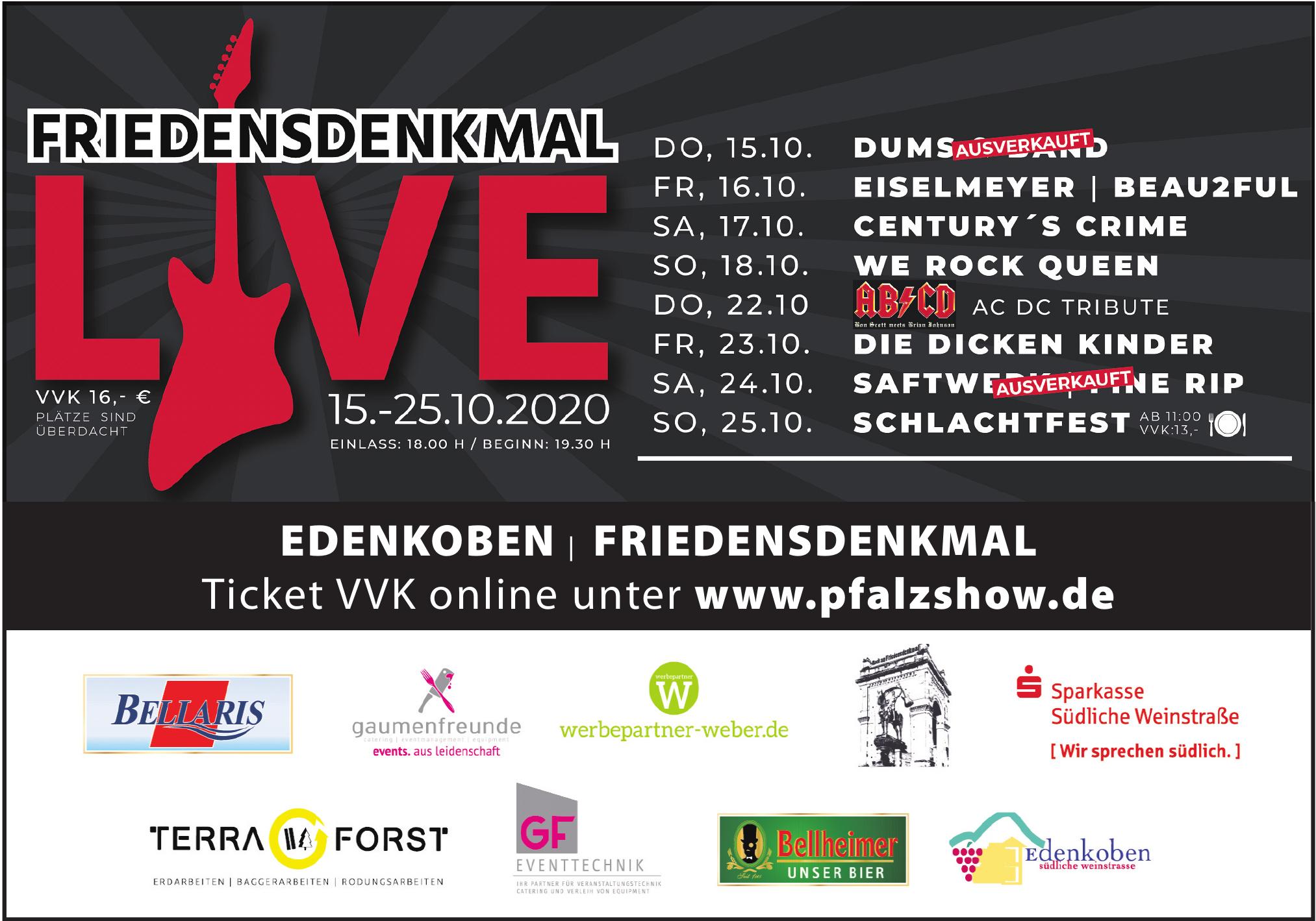 PfalzShow - Friedensdenkmal Live