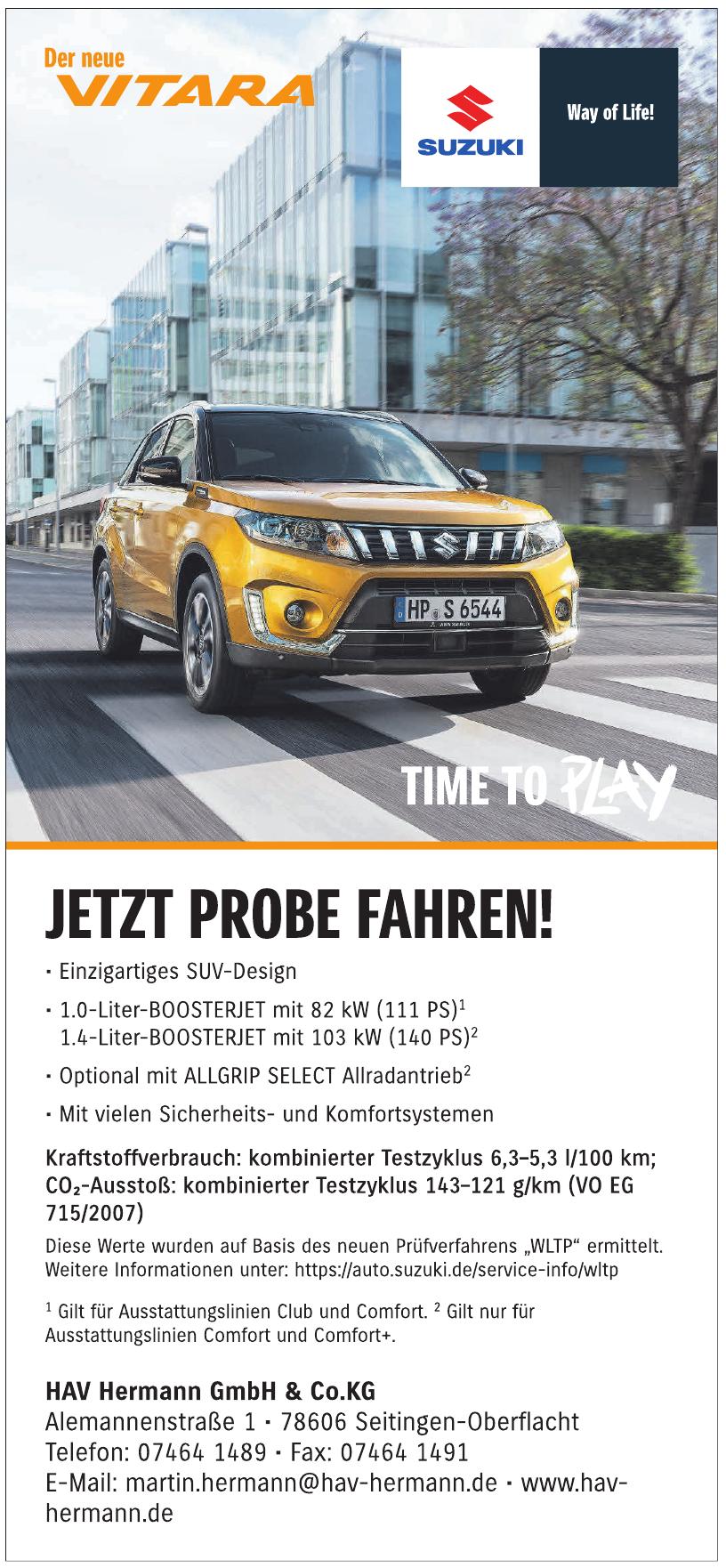 Hermann GmbH & Co. Suzuki-Vertragshändler