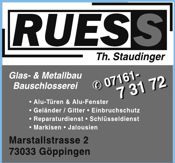 Reinhold Ruess Inh. Thomas Staudinger e.K.