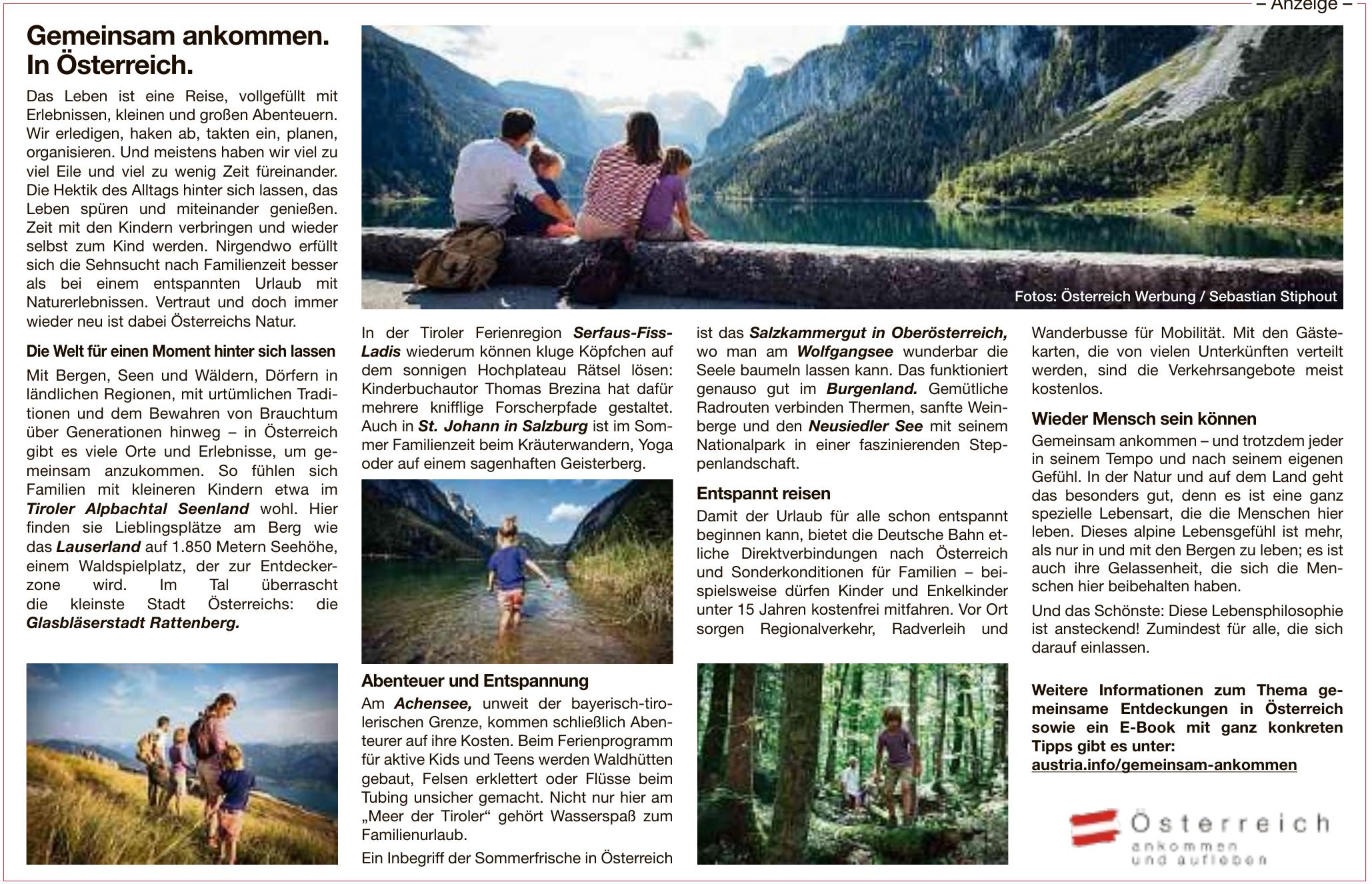 Österreich ankommen und aufleben