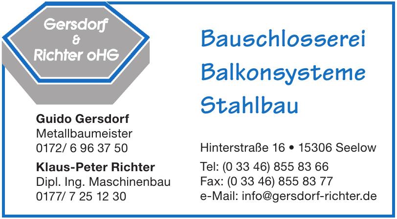 Gersdorf & Richter oHG
