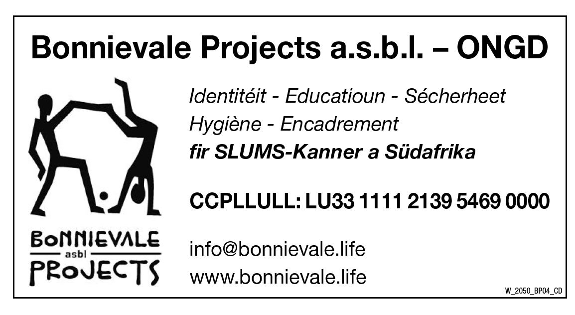 Bonnievale Projects a.s.b.l. - ONGD