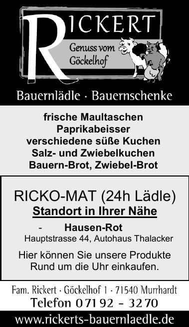 Rickert - Genuss vom Göckelhof